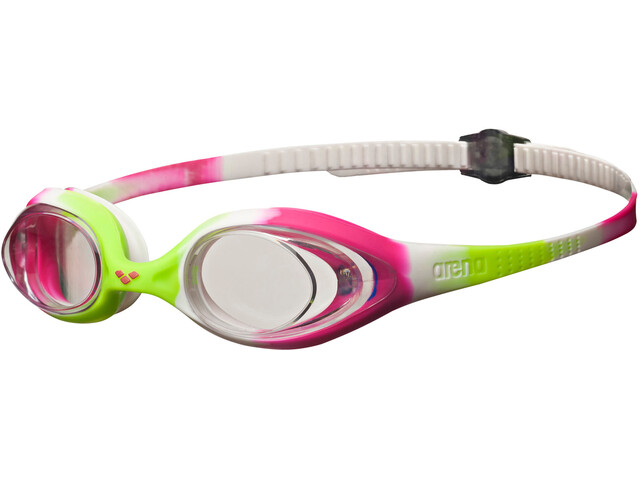 arena Spider Goggles Juniors lime fuchsia-white-clear